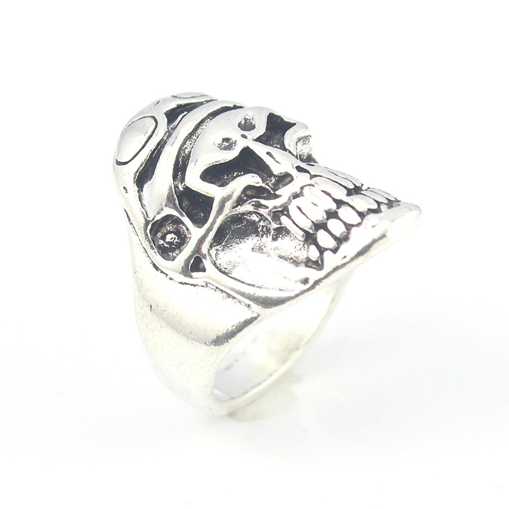 SKULL PLAIN FASHION JEWELRY .925 SILVER PLATED RING 12 S23529