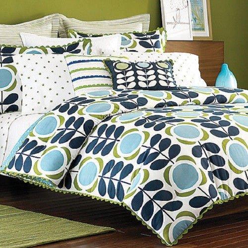 Orla Kiely Field Of Flowers Twin Comforter Pillow Sham Set Low
