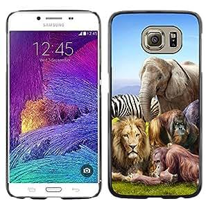 - LION ZEBRA AFRICAN ELEPHANT ZOO ANIMALS - - Monedero pared Design Premium cuero del tir???¡¯???€????€?????n magn???¡¯