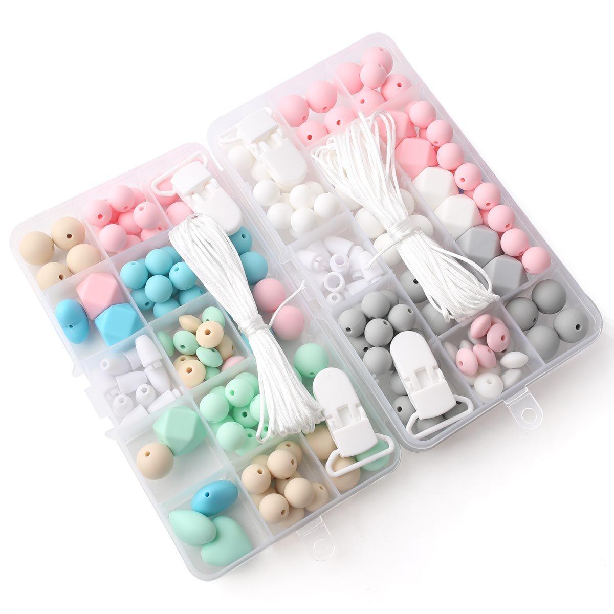 Baby Tete Silikon Perlen Schnuller Clip Zubehör Diy Perlen Set