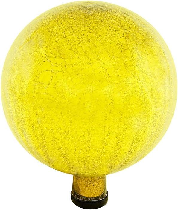 Achla Designs G10-Y-C Gazing, Lemon Drop 10 inch Glass Garden Globe Ball Sphere, 10