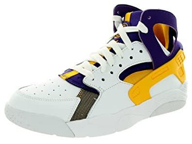 b0f57d4ed55db Nike Enfants Air Flight Huarache (GS) Blanc Unvrsty Doré CRT PRPL Basketball