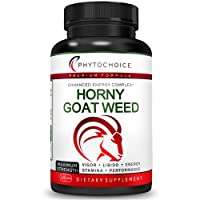Natural Male Enhancing Pills-Fast Acting Horny Goat Weed Extract [10X Strength Icariins] with Tribulus-Ginseng-Maca Root-Increase Drive-Energy-Stamina-Endurance-Performance Complex for Men & Women
