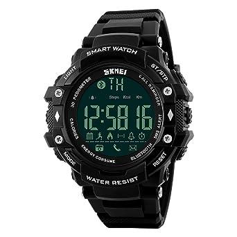 OOLIFENG Reloj Inteligente para Hombre Digital 5ATM Impermeable ...