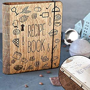 Wooden Cover Recipe Book