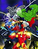 Edge Home Products Marvel Avengers Canvas with Led Light Up Feature 'Outfitted' 12'' x 16'' Wall Art Decor