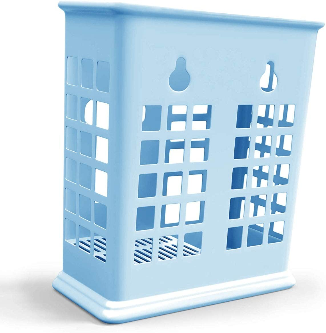 Chopsticks and Straws Holder Basket for Dishwashers - Hold Chopsticks, Straws, and other Utensils Without Falling Through (Blue)