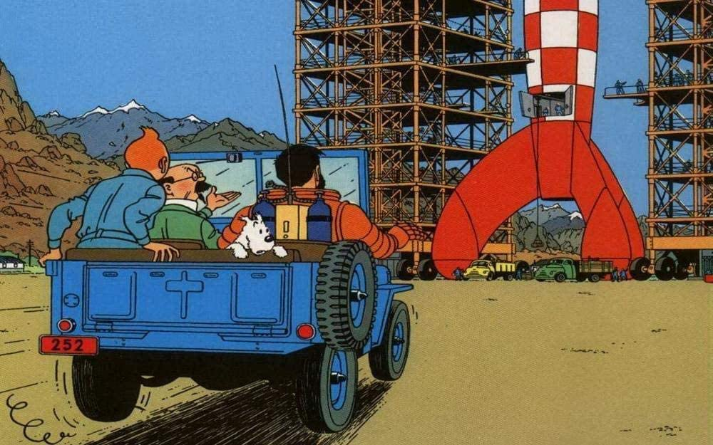 XIAOSHI Puzzle 1000 Piezas Imposible Rompecabezas Las aventuras Tintin Adultos Puzzle Niños 3D Decoración Pared Imagen Madera Montaje Educación Rompecabezas Alivie Estrés Divertido Juego