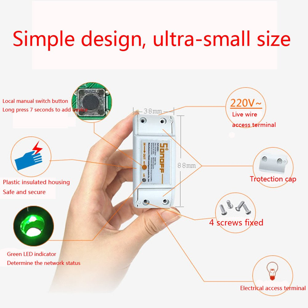Sonoff Smart Wlan Schalter Home Wireless Series Parallel Switch Heavy Duty 8 Terminal Modul Fr Apple Android App Control