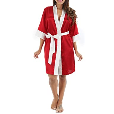 afbfb975f14b0 Image Unavailable. Image not available for. Color  Hoter Women Silky Satin  Kimono Robe ...