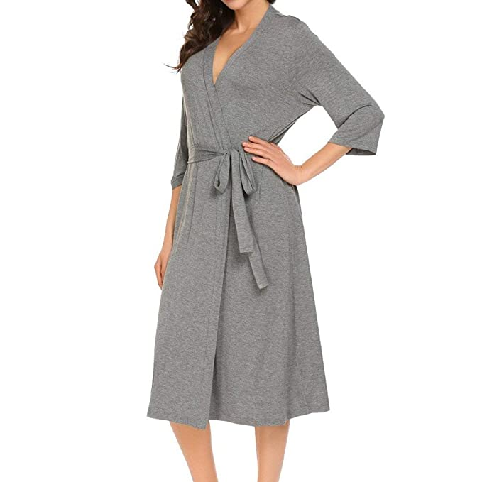 Bata Larga De Kimono para Mujer Fiesta Boda Novia Clásico Damas De Honor Togas Señoras Loungewear Bata De Baño Mujeres: Amazon.es: Ropa y accesorios