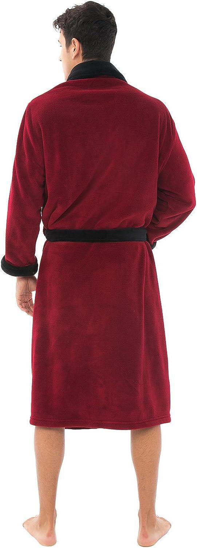 Plush Bathrobe Alexander Del Rossa Mens Warm Fleece Robe