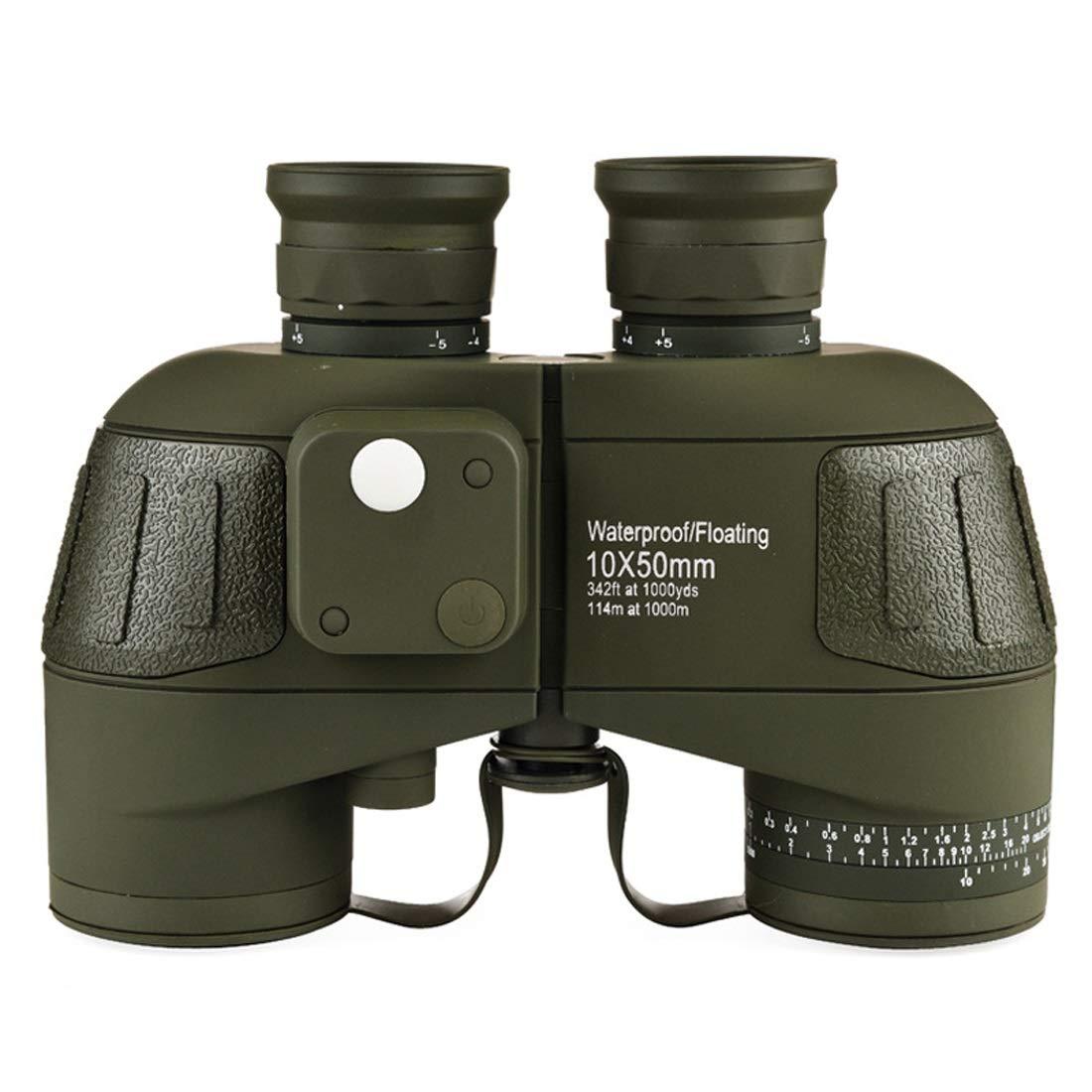CAFUTY 大人のためのコンパス、コンパクトなHDプロフェッショナル双眼鏡のための10x50防曇双眼鏡BAK4プリズムFMCレンズ、屋外用 B07JZXNC9W