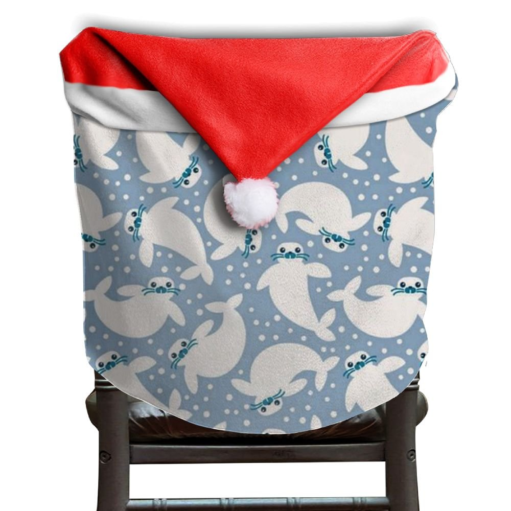 Walrus Animal Christmas Chair Covers STYLISH Comfort Touch Chair Covers For Christmas For Unisex Chair Back Covers Holiday Festive