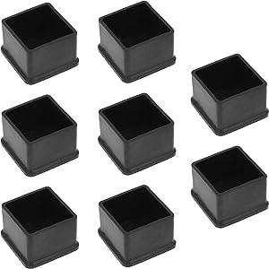 Bonsicoky 20Pcs Square Rubber Furniture Leg Caps 1 3/8