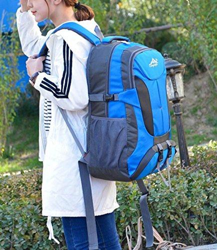 Männer Und Frauen Bergsteigen Tasche Outdoor Reisen Wandern Camping Rucksack Doppel Schulter Sporttasche 20-35L Blue uWXSR