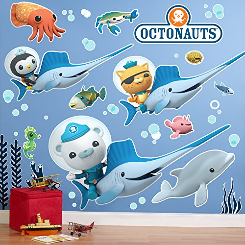 BirthdayExpress The Octonauts Room Decor - Giant Wall Decals, Party Supplies -