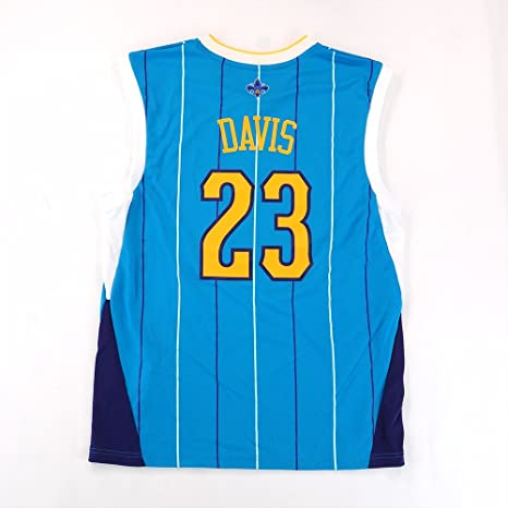 Anthony Davis ADIDAS New Orleans Hornets Away Blue Replica Jersey Men s c5a5faf02
