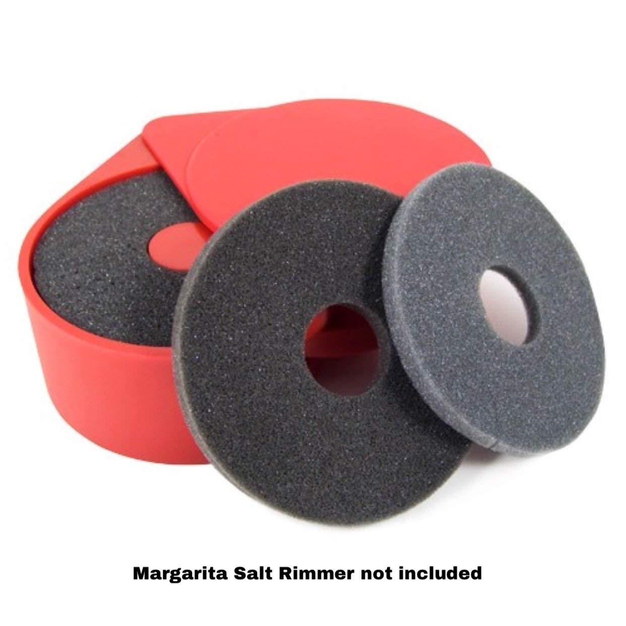 Margarita Salt Glass Bar Rimmer Replacement Sponges Set of 6, Black by SUMMIT Salt Rimmer Replacement Sponges (Image #7)