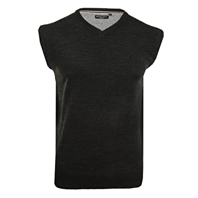 b79fe4f451960 Brave Soul Men Radiate V Neck Sleeveless Golf Bowling Knitted Jumper  Pullover  Amazon.co.uk  Clothing