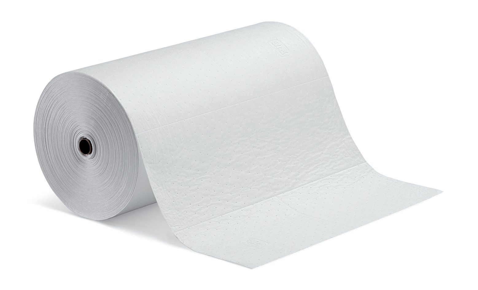 New Pig Oil-Only Absorbent Mat Roll, Absorbs Oil-Based Liquids, Repels Water, Heavyweight, 40-Gal Absorbency, 150' L x 30'' W, White, MAT401