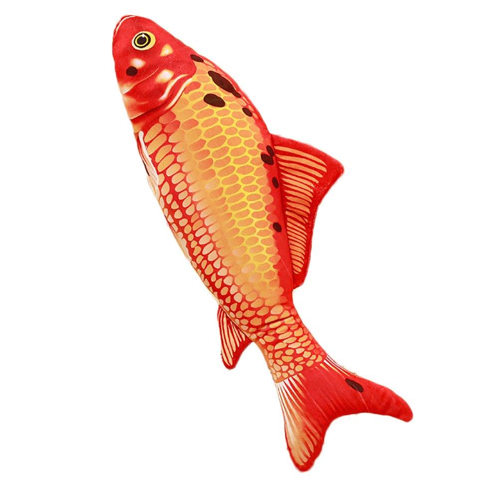 preliked Soft Plush Colored Fish Throw Pillow Waist Cushion Cute Sofa Bed Decor Gift (5#)