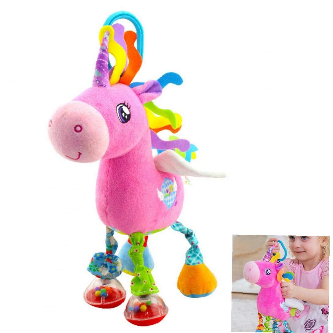 tJexePYK Gl/ättung Spielzeug Kinderwagen-Auto-Sitz Spielzeug F/ür Kinder Babybett Kinderbett Kinderbett Kinderwagen Hanging Spieluhr Pferd 1PC