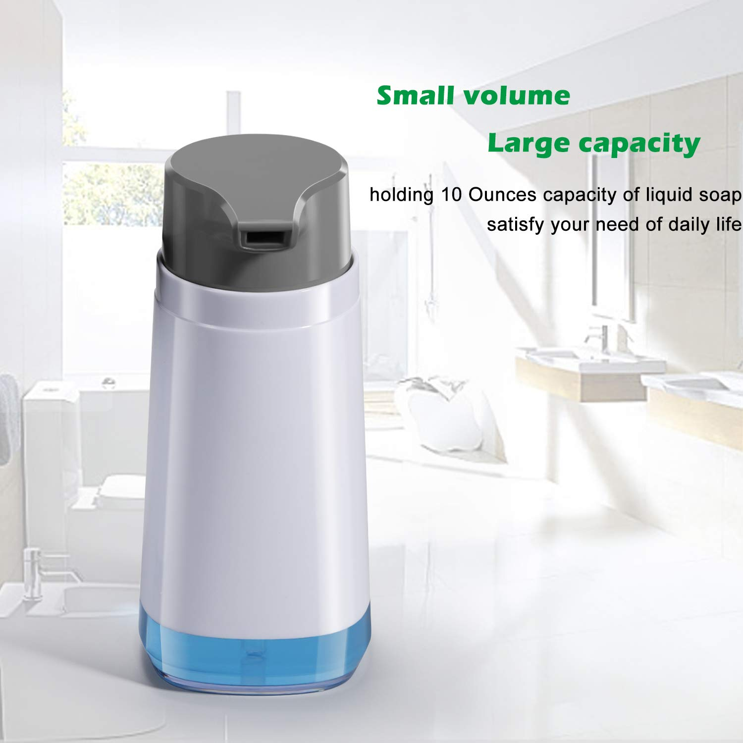 Dish Soap Dispenser for Kitchen Sink 10oz/300ml Rustproof ABS BPA Free Bottle Liquid Hand Soap Dispenser Pump for Bathroom