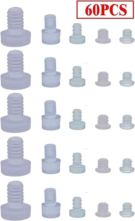30 unidades de protectores de mesa de cristal con tallo agarraderas de goma negras para agujero de 3//16 pulgadas espaciadores de mesa de patio