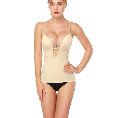 1515ab5e6c LANFEI Women s U Plunge Shapewear Bustier Backless Body Shaper Camisole