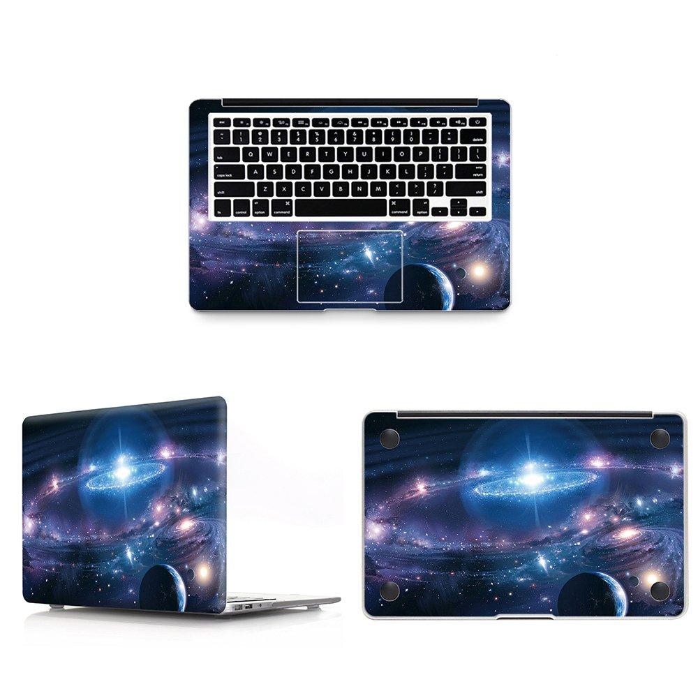 "HRH 3 in 1テクスチャデザインフルボディカバービニールデカールラップトップステッカーパームレストPalmGuard for Apple MacBook Air Pro Retina 11 12 13 15インチ保護スキン 2016 Release With Touch Bar A1707 15"" Pro StickerACD15touch-SwirlStarry 2016 Release With Touch Bar A1707 15\ 2-Swirl Starry Sky B0768SPXJH"