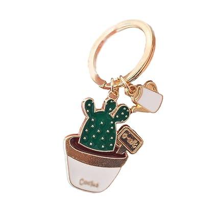 Aikesi Llavero Cactus Colgante de Coche y Mochila Llaveros Hermosa Decoracion y Regalo