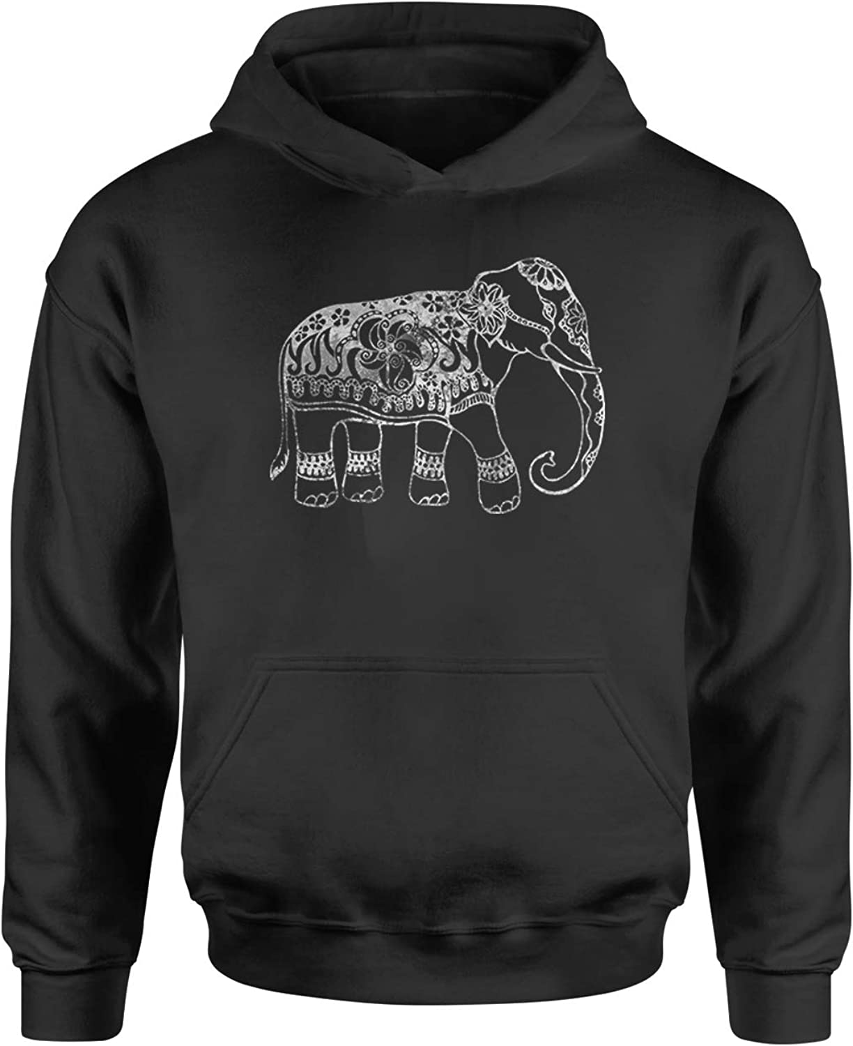 Expression Tees Sacred Elephant Distressed Look Youth-Sized Hoodie
