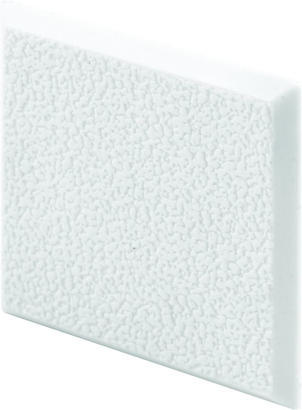 Prime-Line Products MP10866 Wall Protector, 2 in. x 2 in. Squares, Rigid Vinyl, White, Textured, Adhesive-Backed, Paintable, Pack of 5