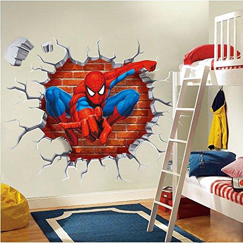 Amazing 3D Spiderman Wall Decals Vinyl Stickers Art Home/Room Decor