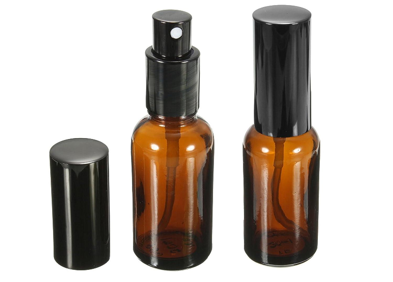 Da.Wa 2x vetro marrone flacone spray con vaporizzatore fine serbatoio vuoto spray bottiglia profumo trucco bottiglia di olio essenziale 5ml
