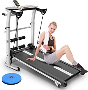 HSART Foldable Treadmill with Display, Walking Machine with Incline for Home Gym - 5 in 1 Fitness