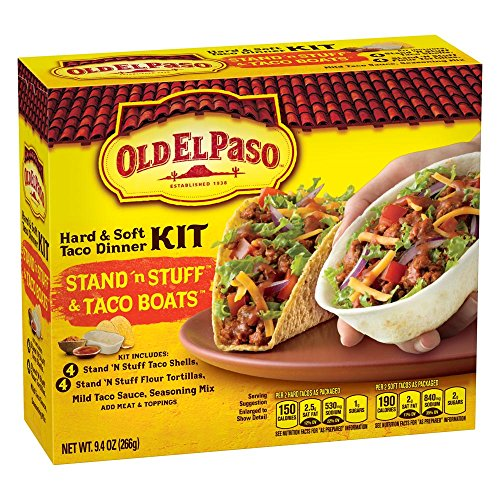 Soft Taco (Old El Paso Stand 'n Stuff Hard & Soft Taco Dinner Kit, 9.4 oz Box)