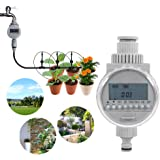 自動散水タイマー 節水 灌漑 水やり 芝生・鉢植え・畑用 光エネルギー ガーデニング