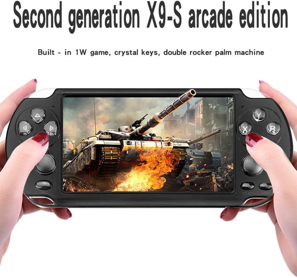 Horen Consolas de Juegos Port/átiles PSP Port/átiles de 8 GB Reproductor Incorporado 10000 Juegos Consola de Juegos Port/átil con 5 Pantalla de 1 Pulgada para Ni/ños Ni/ños Adultos