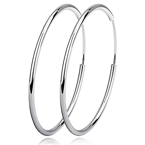 Durchsuchen Sie die neuesten Kollektionen noch nicht vulgär das billigste VONALA Damen Sterling Silber Creolen Silber Ohrringe Durchmesser 20 30 40  50 60MM