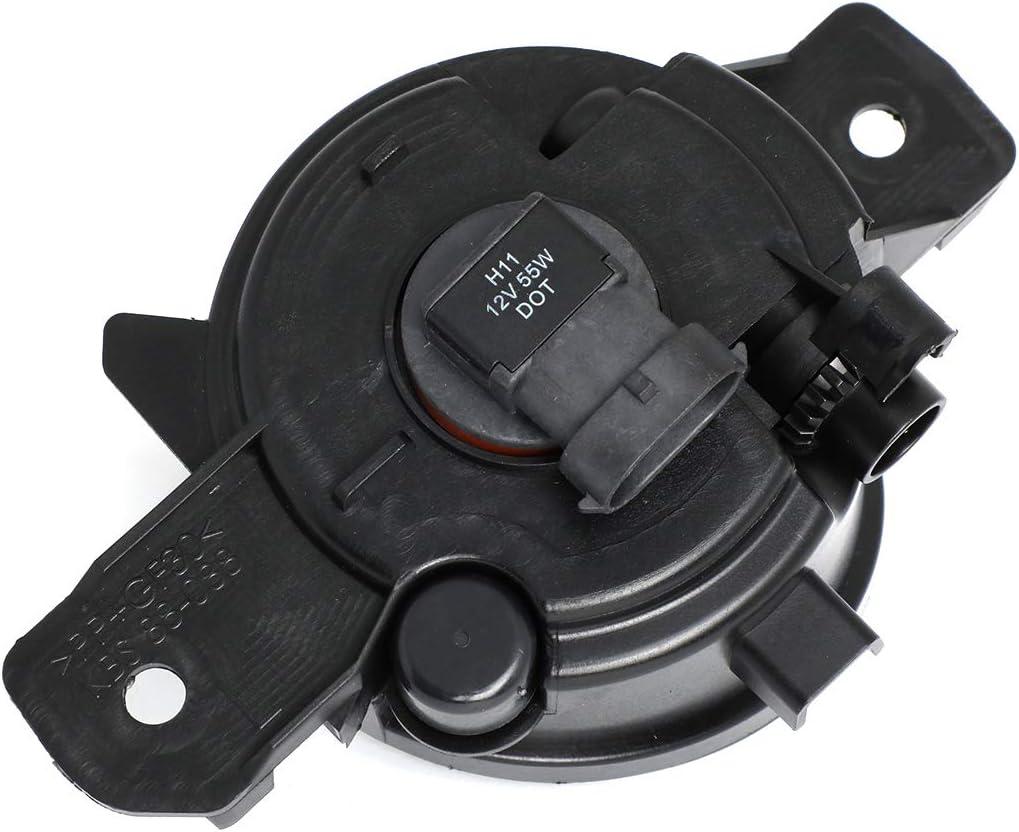 DNA Motoring FL-OEM-0088L Left OEM Fog Light//Lamp For 04-18 Nissan Sentra//Murano//Rogue