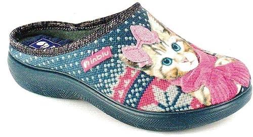 INBLU Pantofole Ciabatte Invernali da Donna Art. EC-16 Blu  Amazon ... 01c4a955903