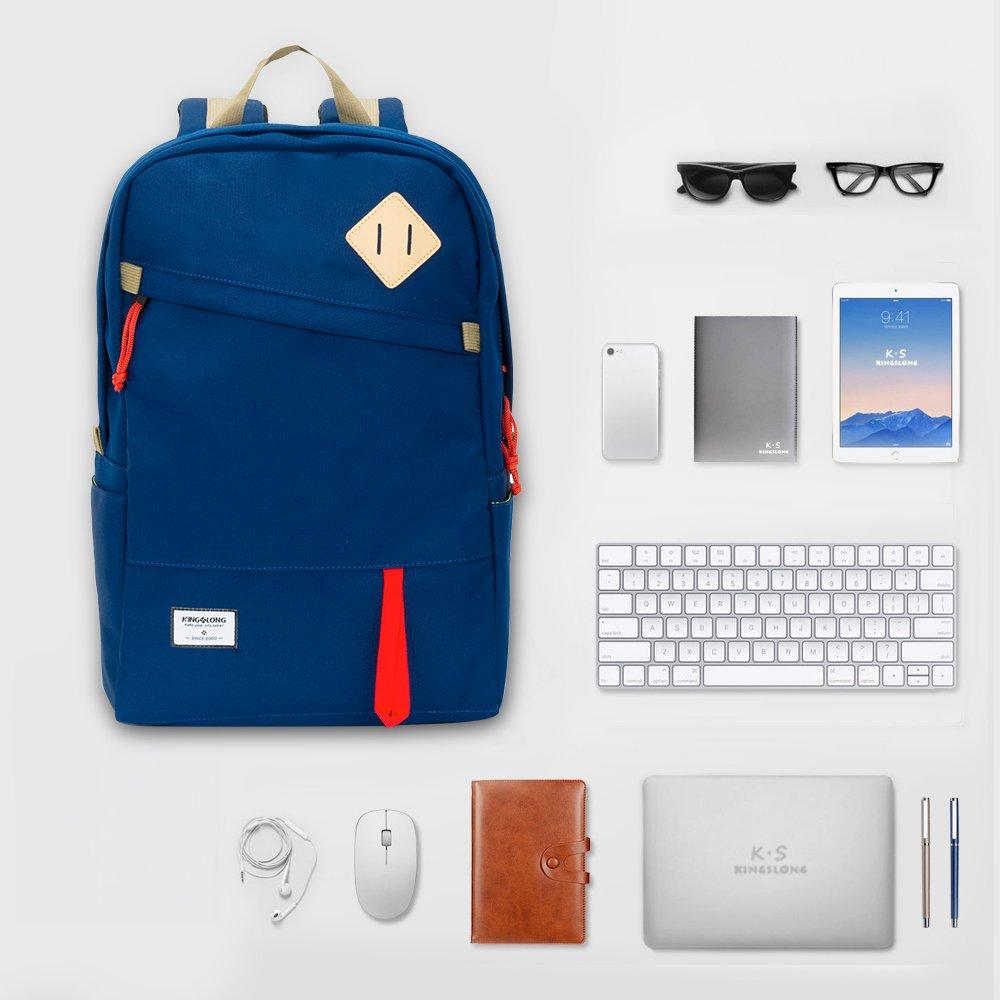 best KINGSLONG 15 inch Waterproof Backpack for Hiking Travel Daypack Bag Outdoor - Durable (blue)