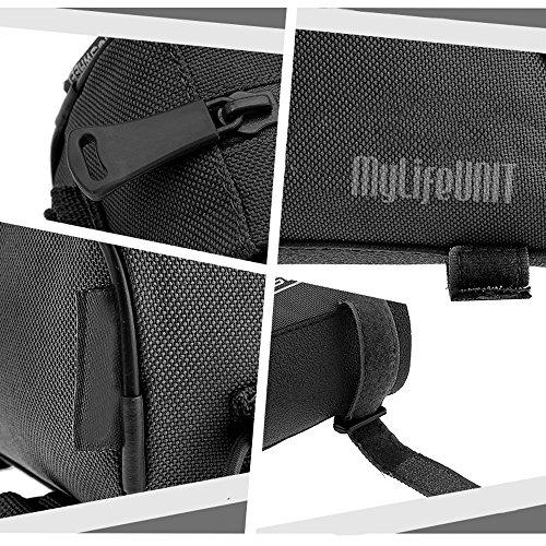 mylifeunit Fahrrad Lenker Tasche klein, Fahrrad Front Tasche für Outdoor-Aktivitäten, Fahrrad Tasche mit Reißverschluss, Schwarz