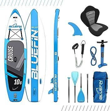 Paquete de Sup Bluefin Cruise | Tabla de Paddle Surf Hinchable | Remo de Fibra de Vidrio | Kit de Conversión a Kayak | Accesorios Completos 2020