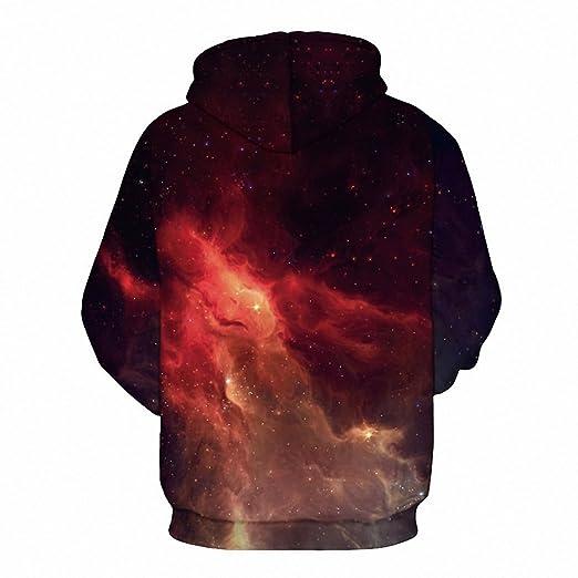 Crochi Series Space Galaxy Sweatshirt Hoodies 3D Print Hip Hop Coats Casual Sweat Shirt Men Women Hooded Tops Plus Size at Amazon Mens Clothing store: