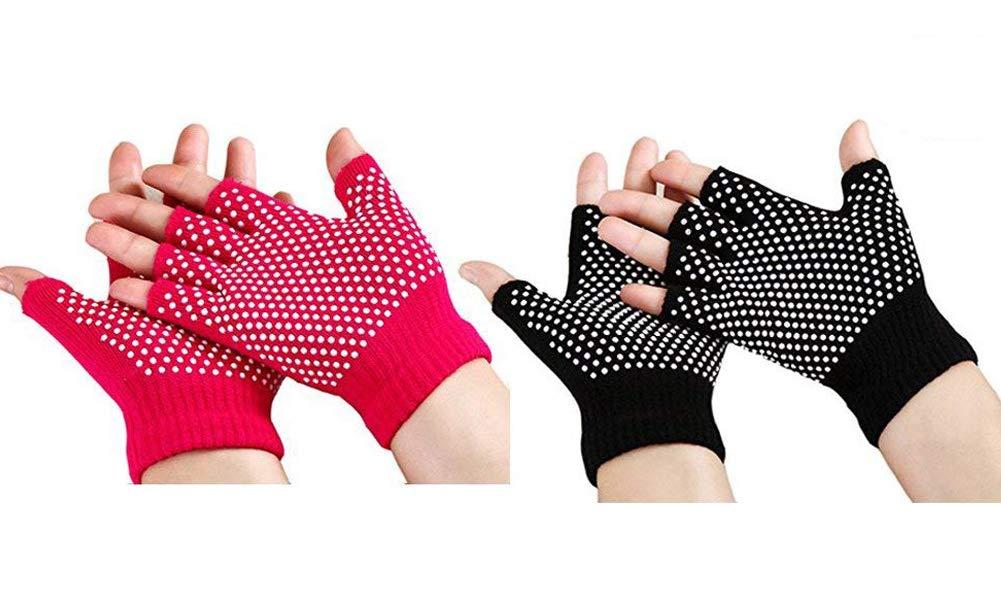 Zaptex Acrylic Yoga Gloves Non-Slip Fingerless Design Pack of 2