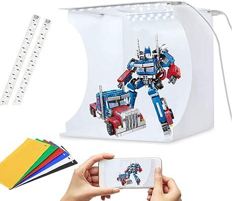 Caja de luz para fotografía, Caja de luz con 2 Luces LED, Caja de ...