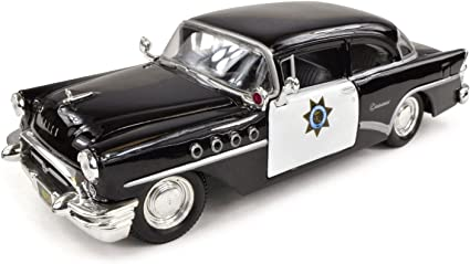 Buick Century 1955 California Highway Police Car 1:26 1:24 Scale Diecast Model
